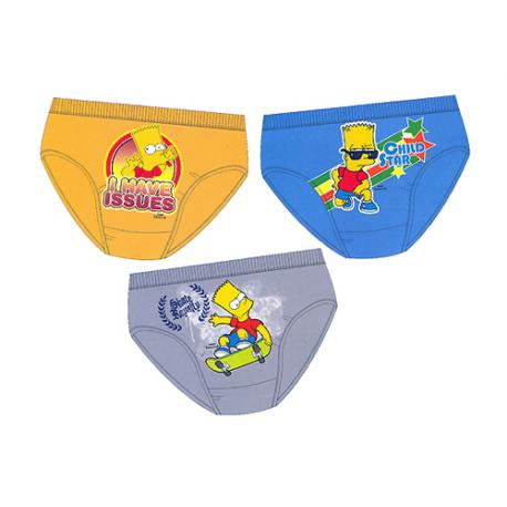 Pack de tres slips para niño de Los Simpsons.