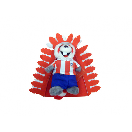Peluche pequeño mascota Indi del Atlético de Madrid.