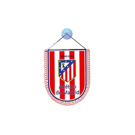 Banderín para el coche del Atlético de Madrid.