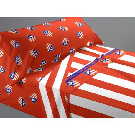 Juego de sábanas 105 cm. del Atlético de Madrid.