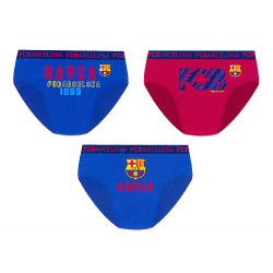 F.C.Barcelona 3 Pack of Boys Slips.