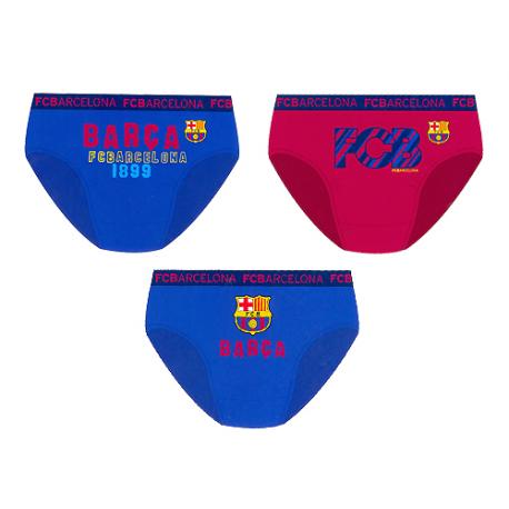 Pack de tres slips para niño del F.C.Barcelona.