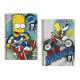 Cuaderno espiral dina A4 de Los Simpsons.