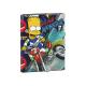 Carpeta de gomas y solapas de Los Simpsons.