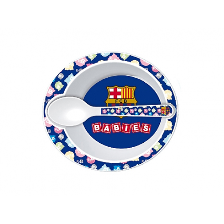 Vajilla infantil 2 piezas del F.C.Barcelona.