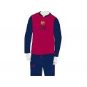 Pijama de adulto de manga larga del F.C. Barcelona.