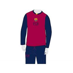 Pyjama junior F.C.Barcelona manches longues.