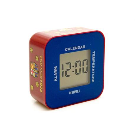 Reloj despertador digital del F.C. Barcelona.
