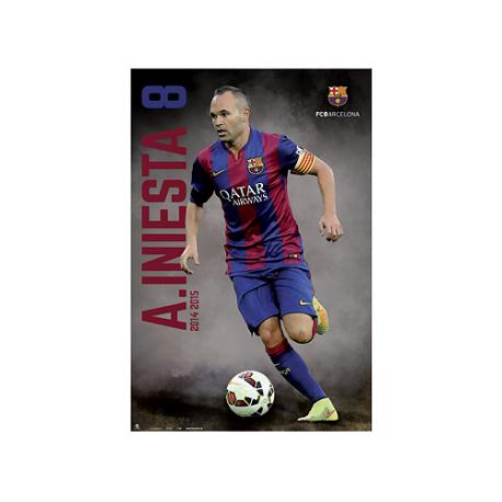 Poster de Iniesta del F.C.Barcelona.