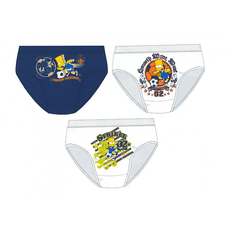 The Simpsons 3 Pack of Boys Slips.