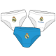 Pack de tres slips para niño del Real Madrid.