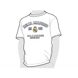 Camiseta algodón adulto del Real Madrid.
