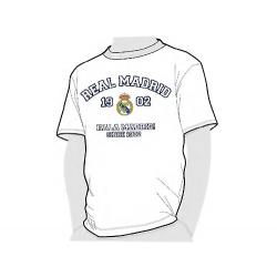 Camiseta algodón adulto del Real Madrid.