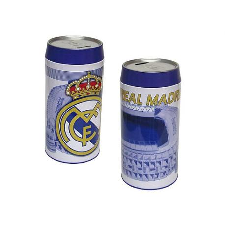 Hucha cubilete gigante del Real Madrid.