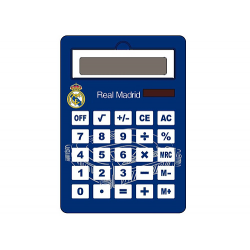 Calculadora jumbo solar del Real Madrid.