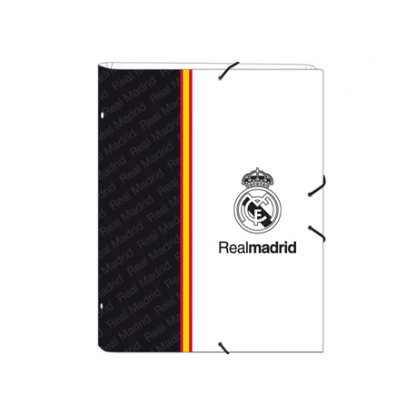Carpeta con clasificador del Real Madrid.