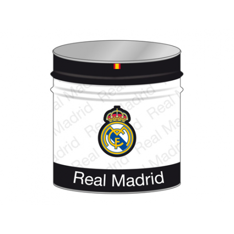 Papelera de metal del Real Madrid.