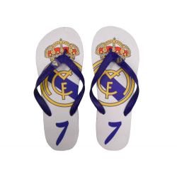 Chanclas piscina del Real Madrid.