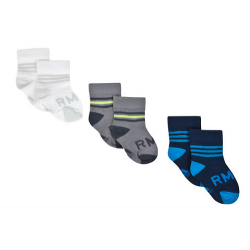 Pack 3 calcetines para niños del Real Madrid.