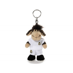 Real Madrid Plush toy sheep keyring.