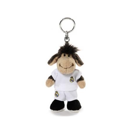Llavero peluche oveja del Real Madrid.