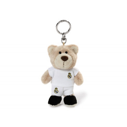 Real Madrid Plush toy bear keyring.