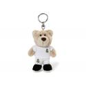 Real Madrid Plush toy bear keyring.