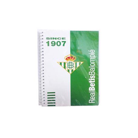 Cuaderno espiral 4º del Real Betis.