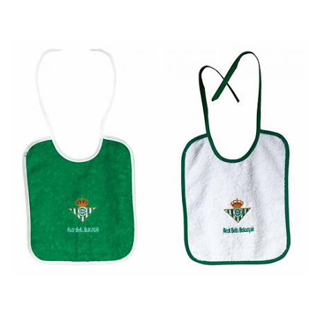 Real Betis Baby bibs.