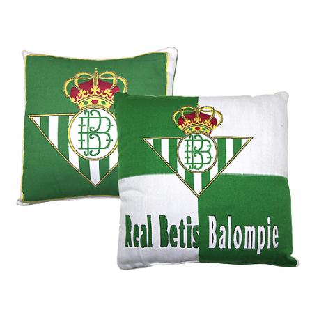Cojín de terciopelo del Real Betis.