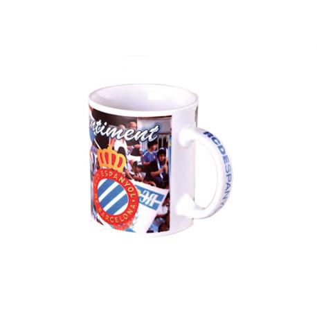 Taza mug porcelana del R.C.D.Espanyol.