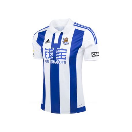 Camiseta oficial adulto 1ª equipación Real Sociedad 2015-16.