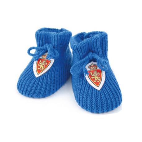 Patucos para bebé del Real Zaragoza.