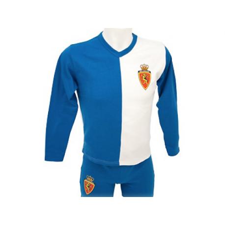 Pijama de niño de manga larga del Real Zaragoza.