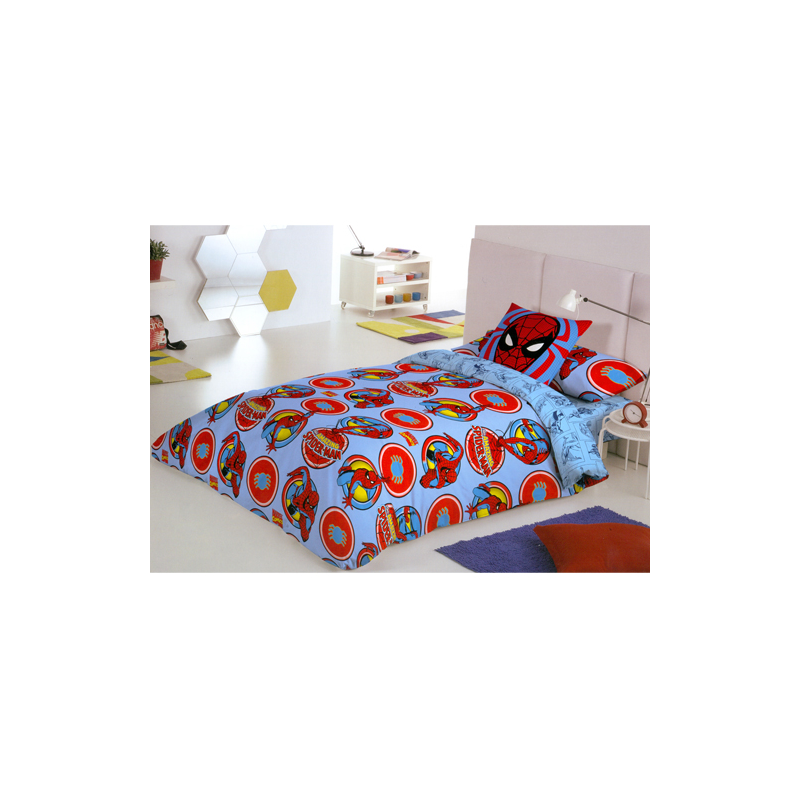 drap housse spider man 90 cm forofos. Black Bedroom Furniture Sets. Home Design Ideas