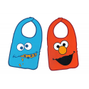 Sesame Street Pack of two baby bibs.