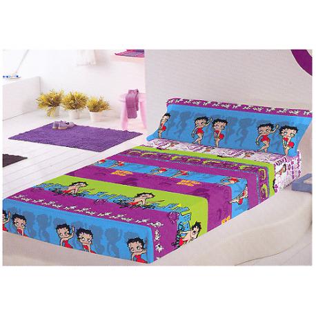 Juego de sábanas de 105 cm. de Betty Boop.