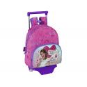 Mochila escolar infantil con ruedas del Violetta.