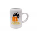 La Huella de Mortadelo Porcelain beer mug.