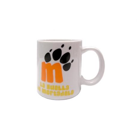 La Huella de Mortadelo Cup porcelain mug.