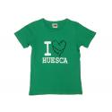 Camiseta manga corta chica de Huesca.