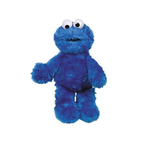 Grande peluche Cookie Monster Rue Sésame.