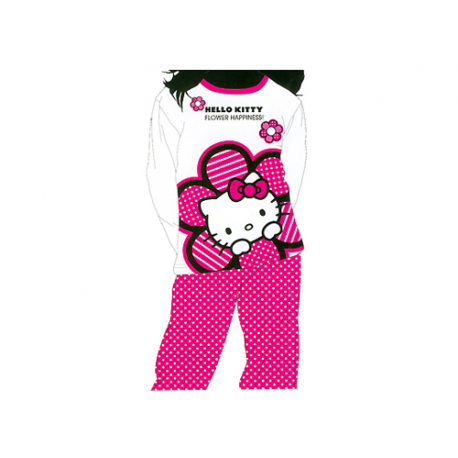 Pijama de niña de manga larga de Hello Kitty.