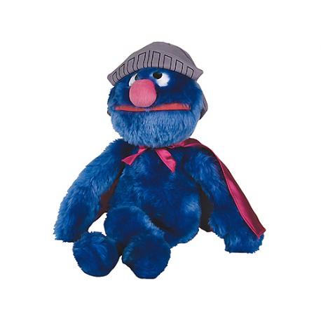 Grande peluche Super Grover Rue Sésame.