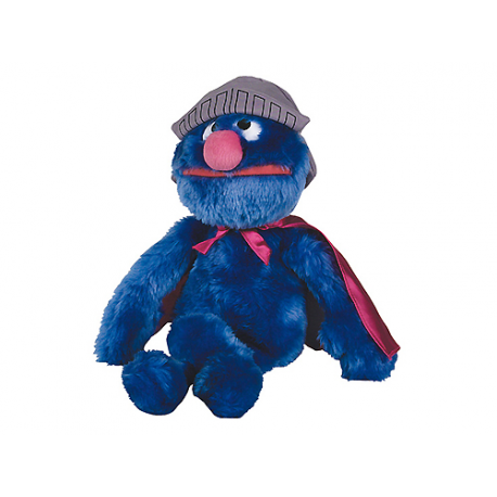 Sesame Street Super Grover Medium Plush doll.