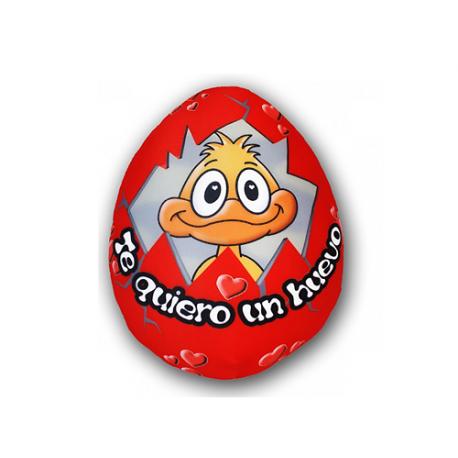 Peluche mediano de lycra Huevo rojo.