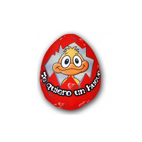 Peluche pequeño de lycra Huevo rojo.