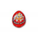 Peluche mini de lycra Huevo rojo.