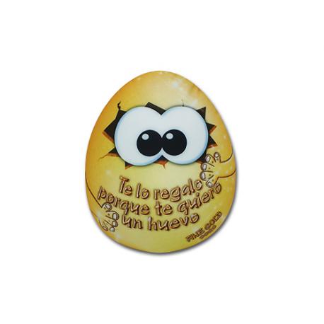 Peluche pequeño de lycra Huevo de oro.