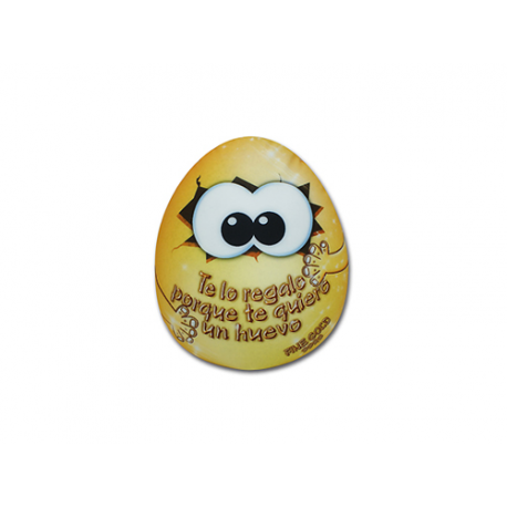 Peluche mini de lycra Huevo de oro.